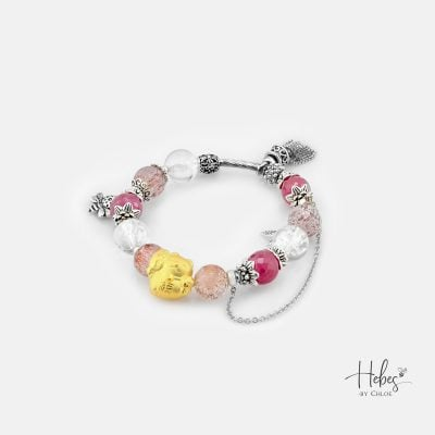 Princess Lucky Cat Healing Crystal Bracelets